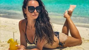 Dobó Ági a Maldív-szigeteken bikiniben koktélozik és más döglesztő posztok az Instáról