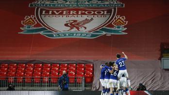 Ez már szakadék: a derbit is elveszítette a Liverpool