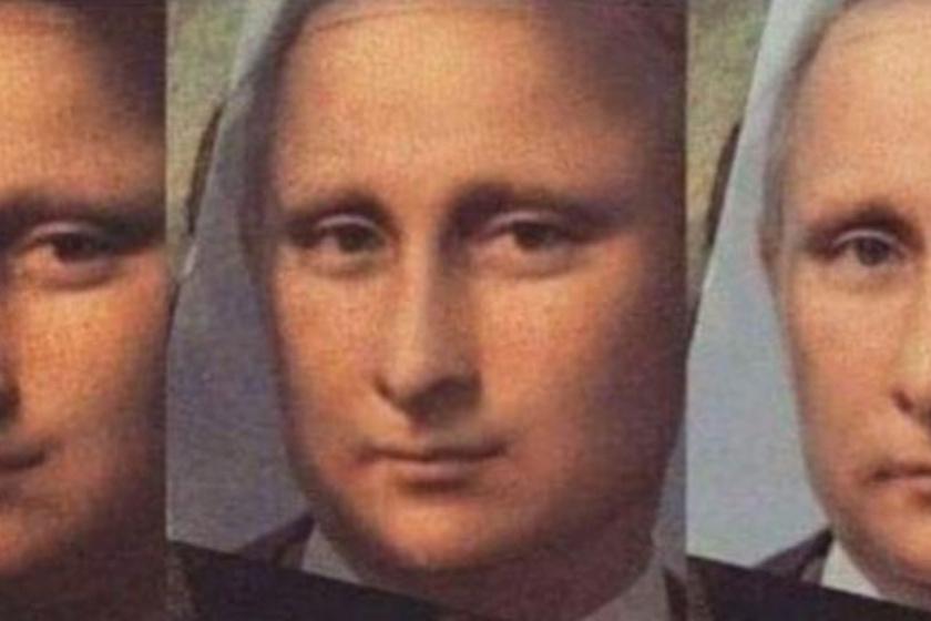Valószínűleg sosem gondoltál még úgy Vladimir Putyinra, mint Mona Lisa-hasonmásra, pedig…