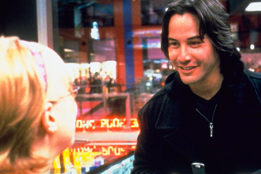Keanu Reeves A leskelődő című film forgatásán.
