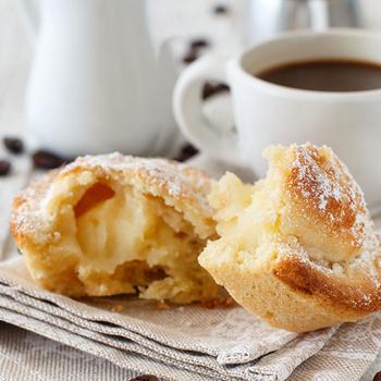 Vaníliás citromkrémmel töltött olasz sütemény: a pasticciotto muffinformában is készülhet