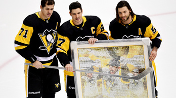 Súlyos fejsérülés után írt történelmet a jégen Sidney Crosby