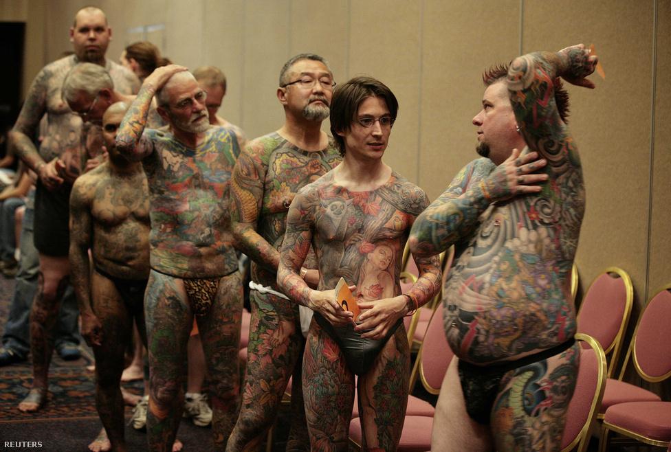 Cincinnati, Ohio, Egyesült Államok. Idén is megrendezték a teljes test tetováltak szépségversenyét.