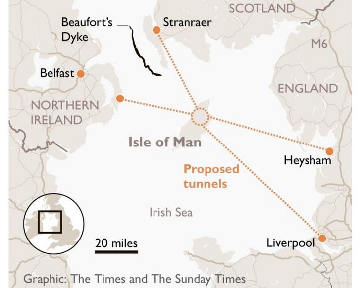 A Sunday Times grafikája a lehetséges hálózatról