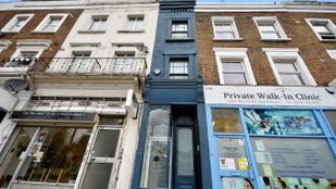 Alig másfél méter széles, de több mint 400 millió forintba kerül London legkeskenyebb háza