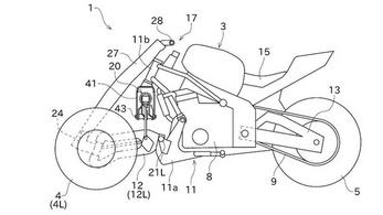 Nagyon furcsa háromkerekűt szabadalmaztatott a Kawasaki