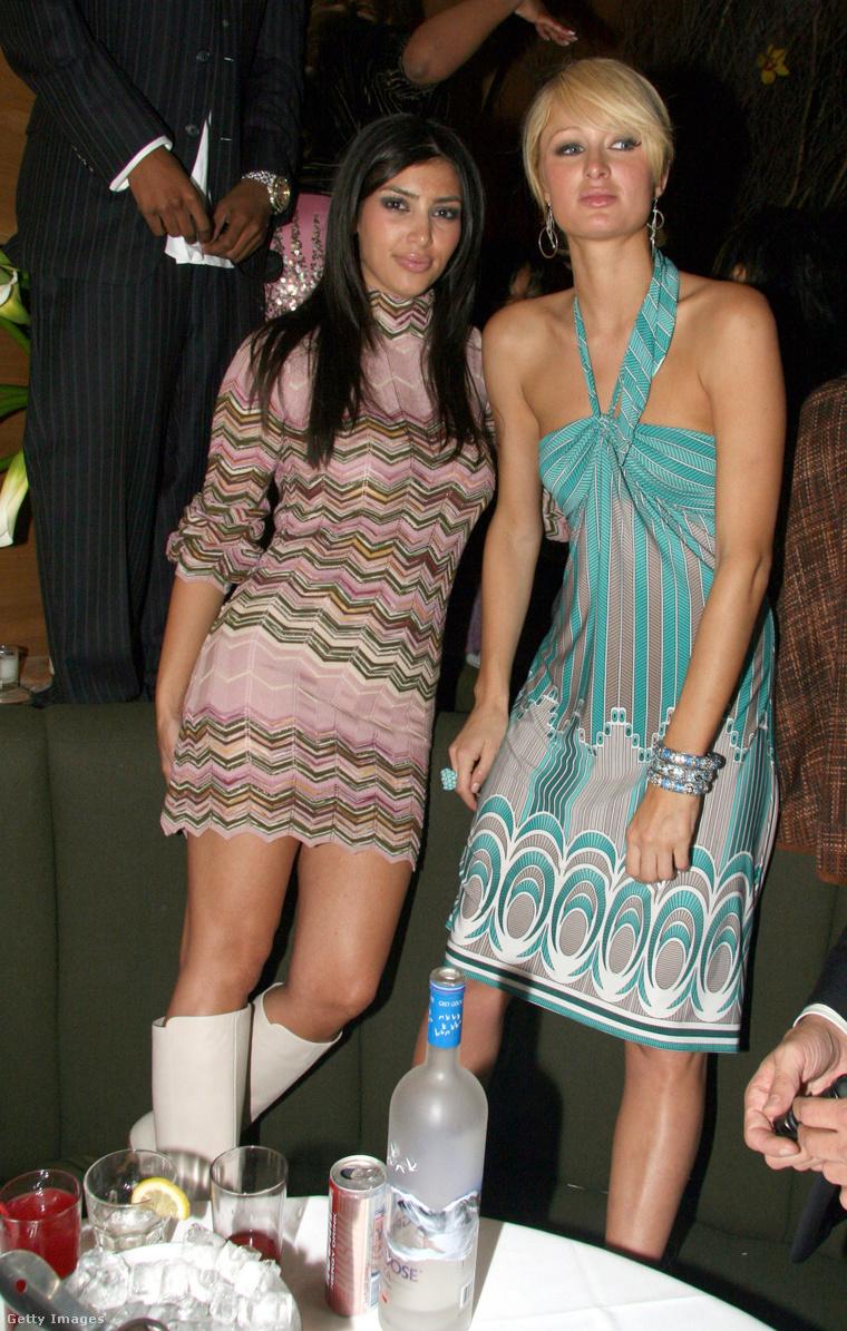Kim Kardashian még Paris Hilton asszisztenseként, 2006-ban.