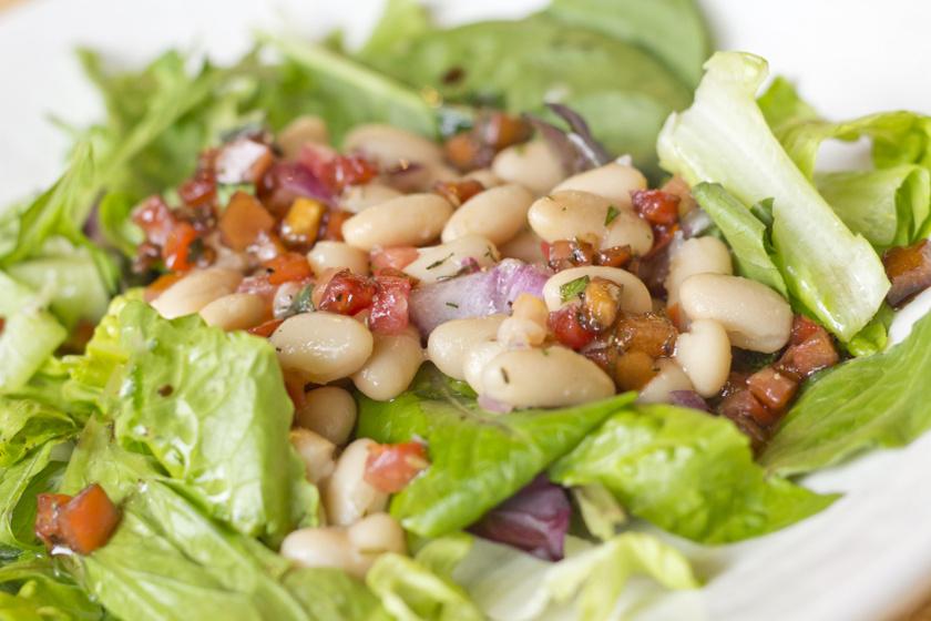 fehérbab saláta recept