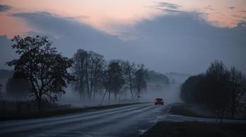 A veszélyes köd miatt figyelmeztetést adtak ki
