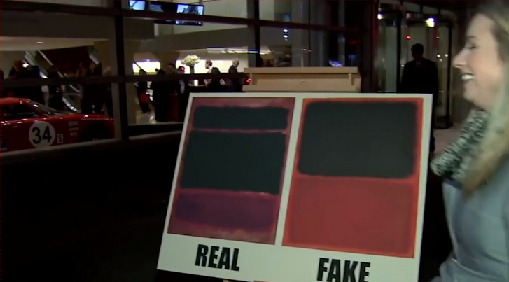 Scene from the documentary Made You Look: A True Story About Fake Art.