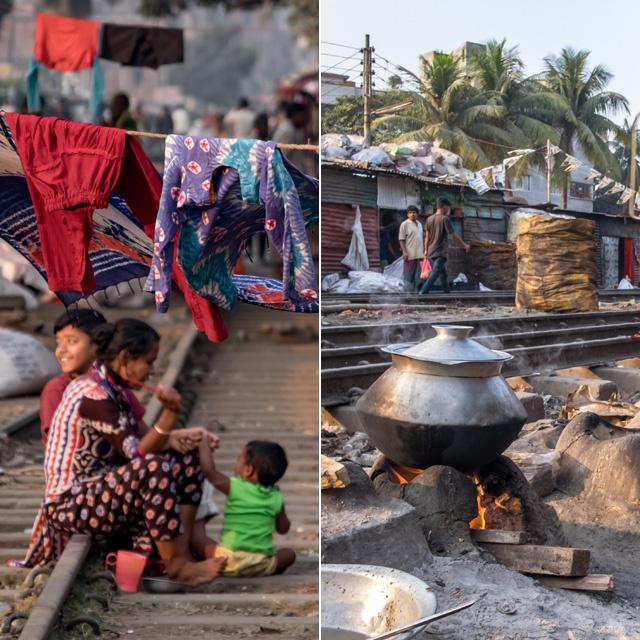 Vasút menti viskók, omladozó házak és mélyszegénység: ilyen szörnyű az élet a bangladesi nyomornegyedekben