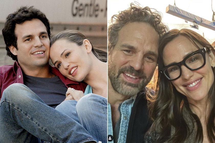 Jennifer Garner és Mark Ruffalo a Hirtelen 30 megjelenése után 17 évvel szelfiztek egyet.