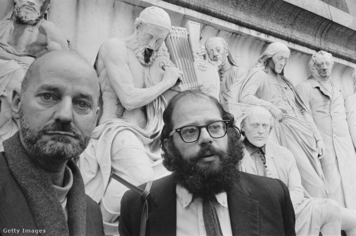 Lawrence Ferlighetti Allen Ginsberggel Londonban, 1965. június 11-én