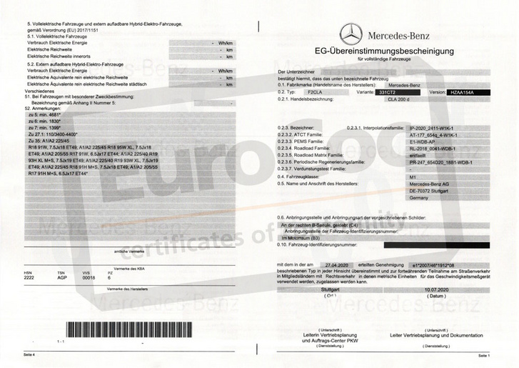 Mercedes-Benz-coc