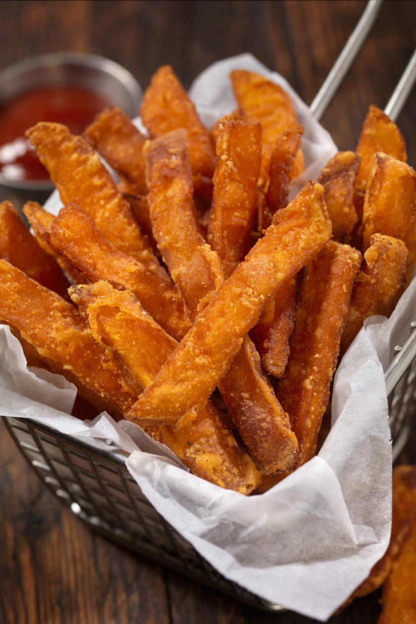 édeskrumpli french fries álló