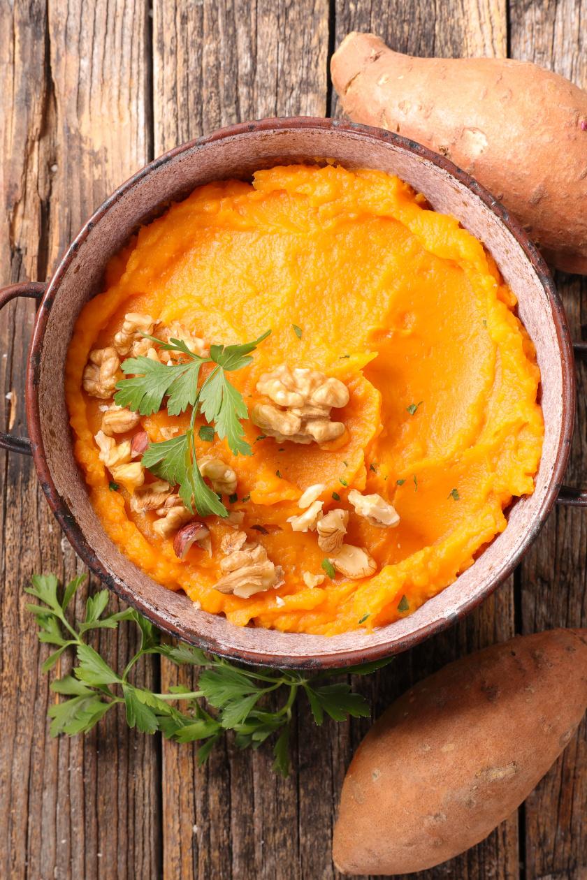 édeskrumpli püré diós álló