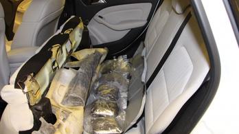 Hatalmas drogfogás Röszkén, százmillió forint értékű marihuánát foglaltak le