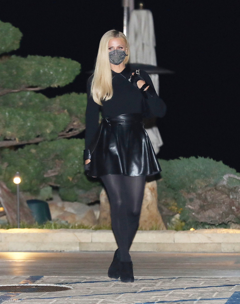 Paris Hilton február 23-án elment vacsorázni a vőlegényével Los Angelesben