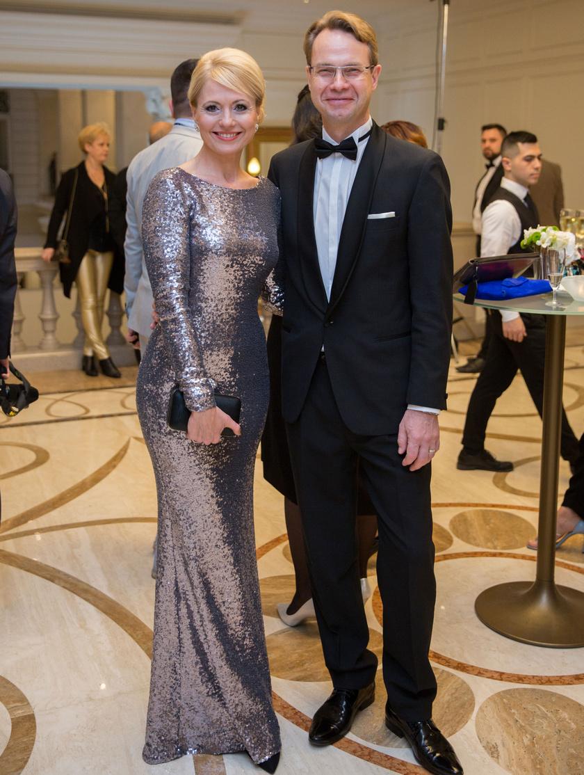 Bényi Ildikó és férje a 2018-as Story-gálán.