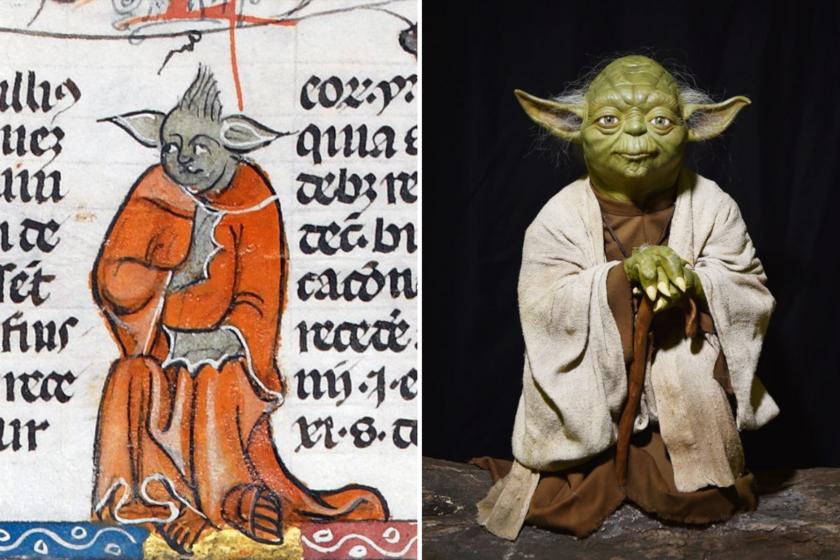 Sok mindenre számítanánk egy középkori könyvben, de Yoda mesterre nem: íme, a magyarázat, hogy került oda