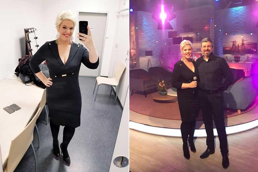 Balássy Betty és Varga Feri február elején a köztévé Család-barát című műsorában.