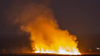 Hatalmas lángokkal égett a balatoni nádas, nyolc város tűzoltóit riasztották