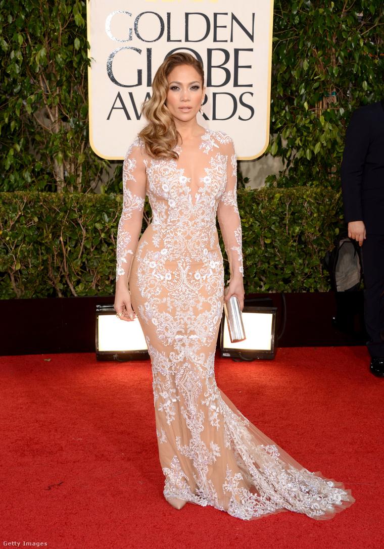 Jennifer Lopez a 2013-as Golden Globe-díjátadón. (Ruha: Zuhair Murad)