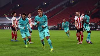 A sereghajtó Sheffield ellen nem hibázott a Liverpool