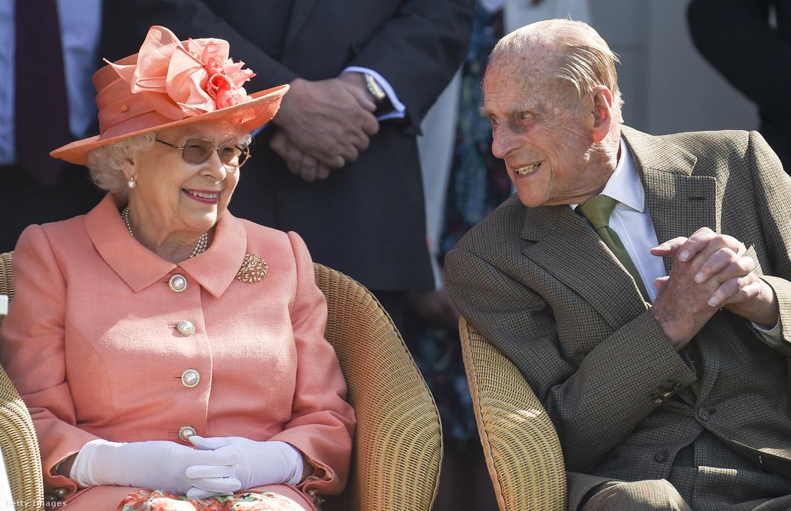 II. Erzsébet királynő és Fülöp herceg 2018-ban