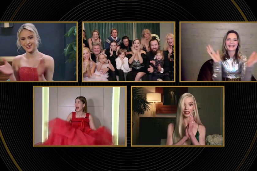 Kate Hudsonék így örültek a nyertes Rosemund Pike-nak.