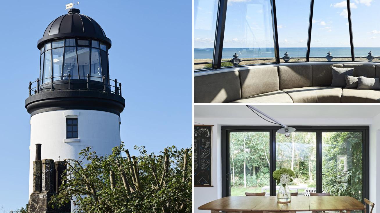 Pazar otthont rendezett be a világítótoronyban a norfolki nő: fotókon a beltér, amit a tengerpart ihletett
