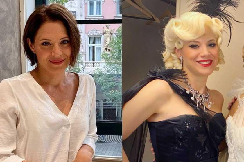 Szinetár Dóra 2016-tól 2020-ig játszotta a platinaszőke Lina Lamont karakterét. Alig lehet ráismerni ebben a szerepben.