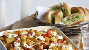Sült tészta tökkel és spenóttal – kétféle sajtot olvasztottunk a tetejére