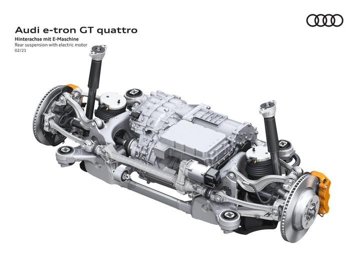 Az Audi e-tron GT és egyben a Porsche Taycan hátsó hajtása állandó mágneses szinkronmotorral és kétfokozatú sebességváltóval