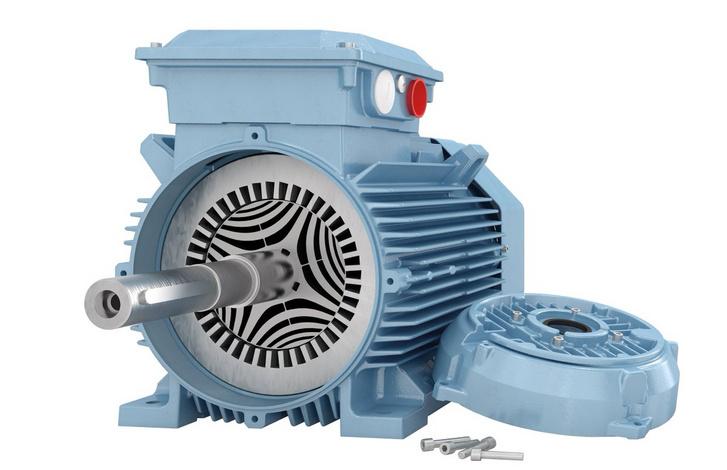 A forgórész látványos, íves rései miatt nem egyenletes a mágneses ellenállás a reluktancia motorban. Ezért kezd forogni