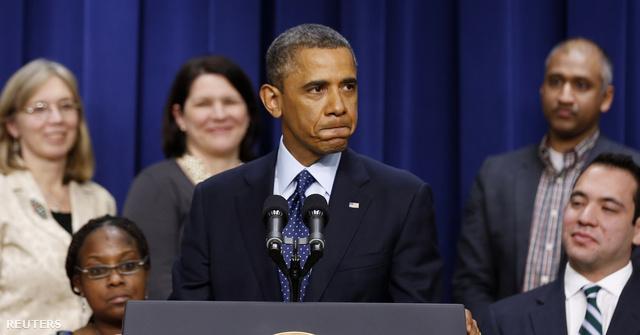 Barack Obama a hétfői sajtótájékoztatón