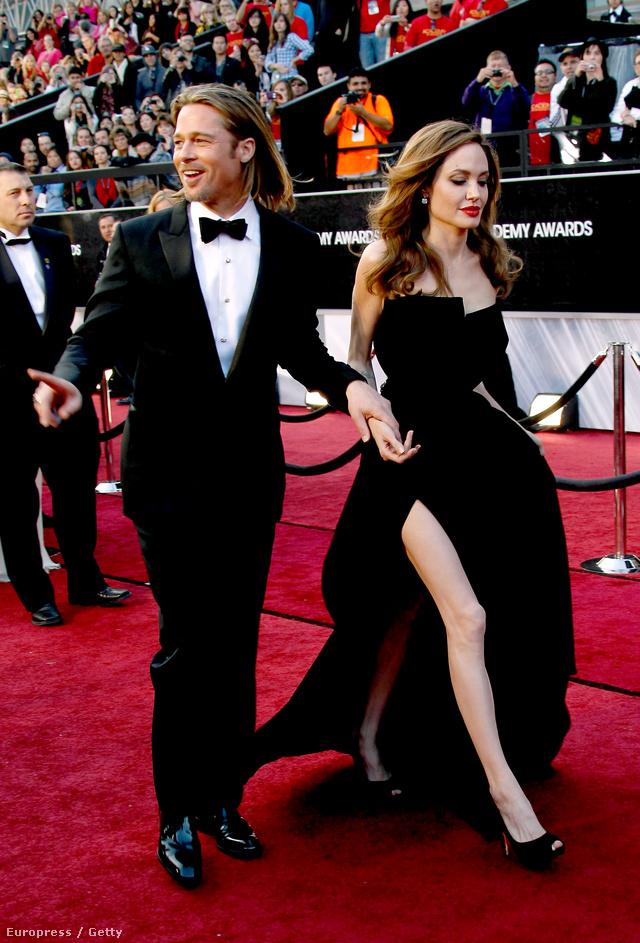 Jolie és Pitt a 2012-es Oscar-díjátadón