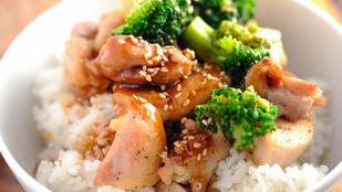Gyömbéres teriyaki csirke – egy kis adag friss szerecsendióval lesz igazán finom