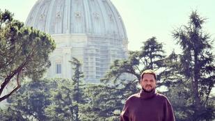 """Lakatos Márk a turisták nélküli Rómáról: """"úgy éreztem magam, mint A két pápa című filmben"""""""