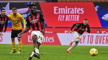 A 97. percben, büntetőből mentett pontot a Milan