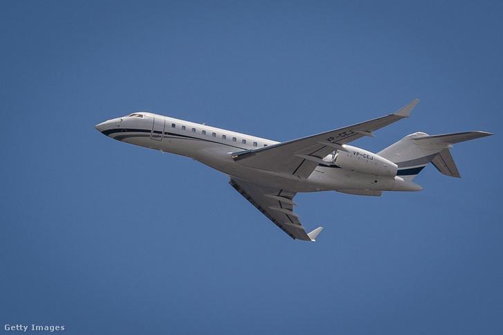 Egy Bombardier Global 6000 típusú magánrepülőgép