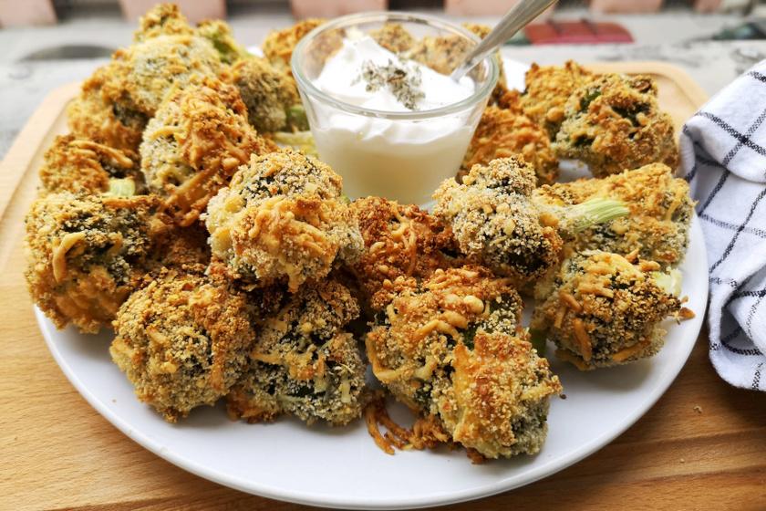 sütőben sült brokkoli recept