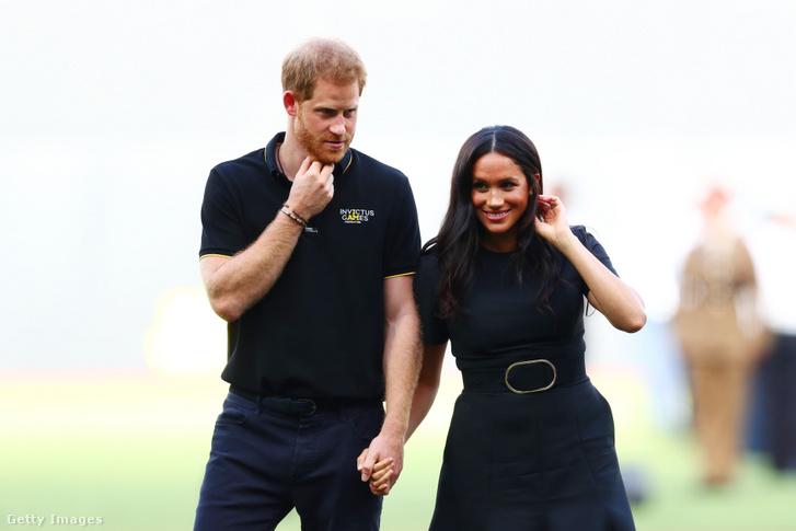 Harry herceg és Meghan Markle 2019. június 29-én