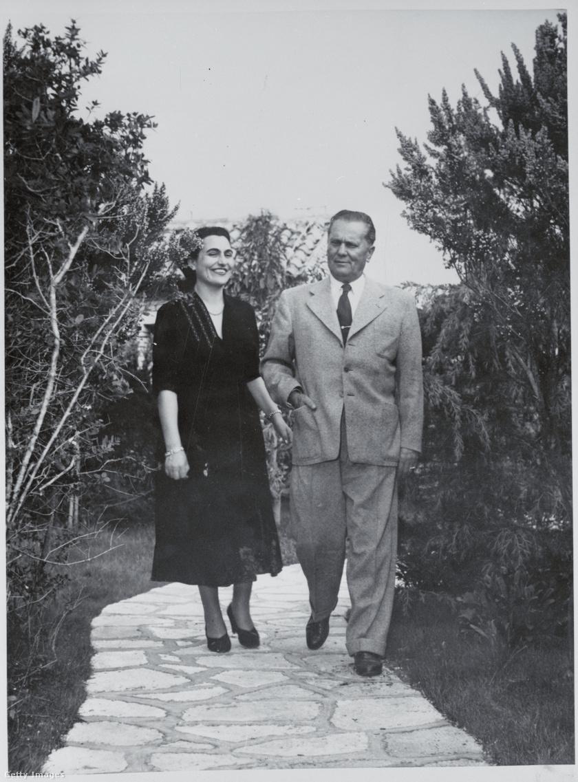 Jovanka és Tito Brijunin.