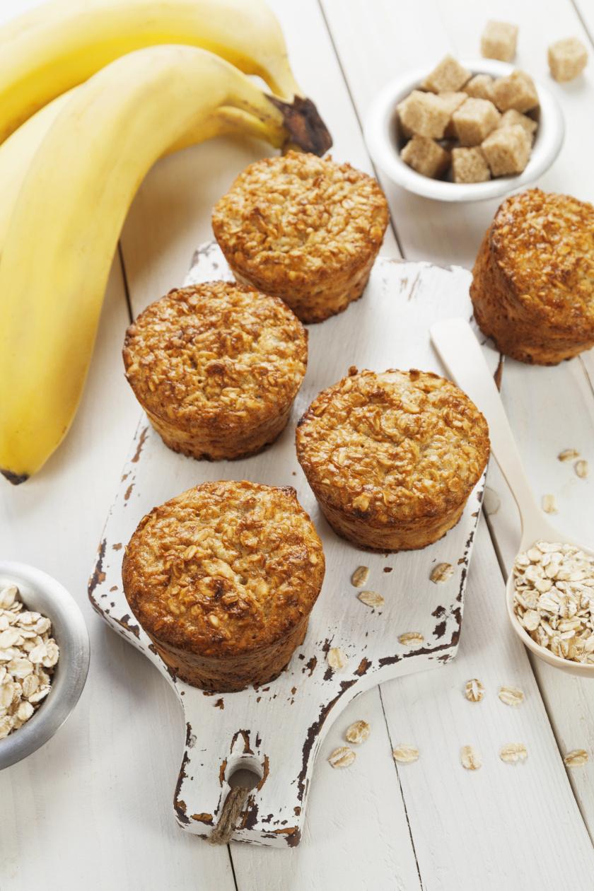 banános zabpelyhes muffin álló ok