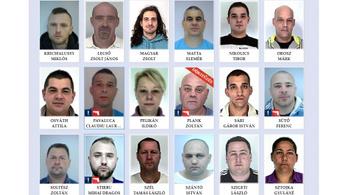 Ők a legkeresettebb bűnözők Magyarországon