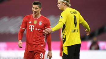 Lewandowski triplázott, a Bayern a hajrában bedarálta a Dortmundot