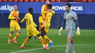 Hatalmasra sikerült a Barca-tehetség első bajnoki gólja