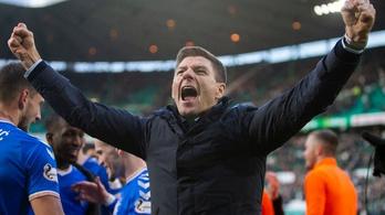 Steven Gerrard 10 év után nyert bajnokságot a Rangerssel