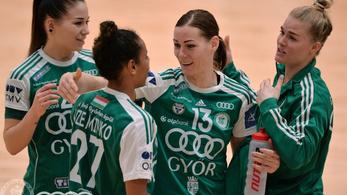 Tizenhét gólos előnyben a Győr a Bajnokok Ligája nyolcaddöntőjében